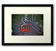 London red tube Framed Print