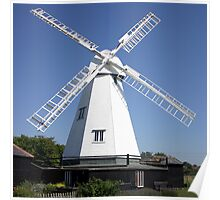 White Windmill Poster