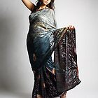 Indian girl in blue sari by Dutchessphotos