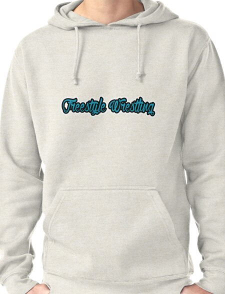 Freestyle Wrestling Blue Pullover Hoodie