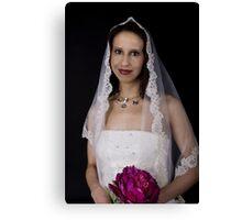 Bridal photo Canvas Print