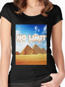 No Limit Pyramid  Women's Fitted Scoop T-Shirt