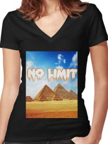 No Limit Pyramid  Women's Fitted V-Neck T-Shirt