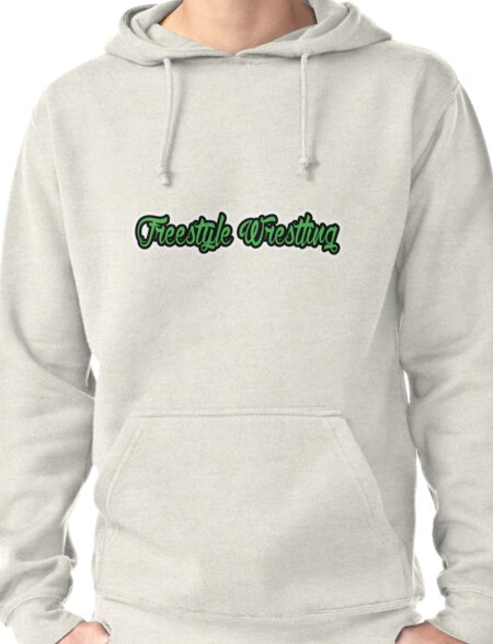 Freestyle Wrestling Green  Pullover Hoodie