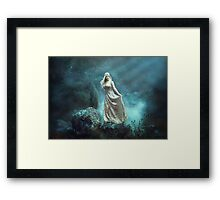 Mystic Beauty - winds for the siren Framed Print