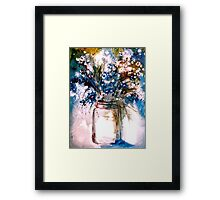 Blue and White... Framed Print
