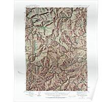 USGS Topo Map Oregon Dutchman Butte 282434 1946 62500 Poster