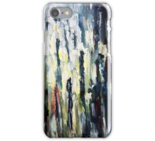 Busy street on rainy evening  iPhone Case/Skin