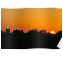 Mersey Island Sunset Poster