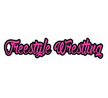 Freestyle Wrestling Pink Photographic Print