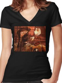 Entering The Spirit World Women's Fitted V-Neck T-Shirt