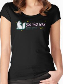 300 Fox Way Psychic Services  Women's Fitted Scoop T-Shirt