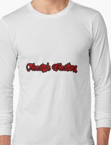 Freestyle Wrestling Red  Long Sleeve T-Shirt