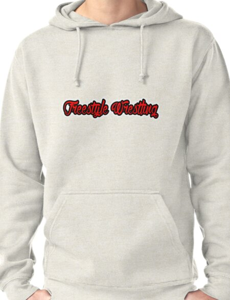 Freestyle Wrestling Red  Pullover Hoodie