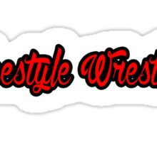 Freestyle Wrestling Red  Sticker