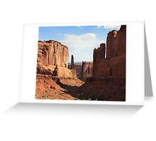 Lone Sentinels- Arches NP-Utah Greeting Card
