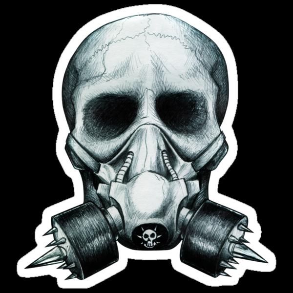 Gas mask Skull by beanarts
