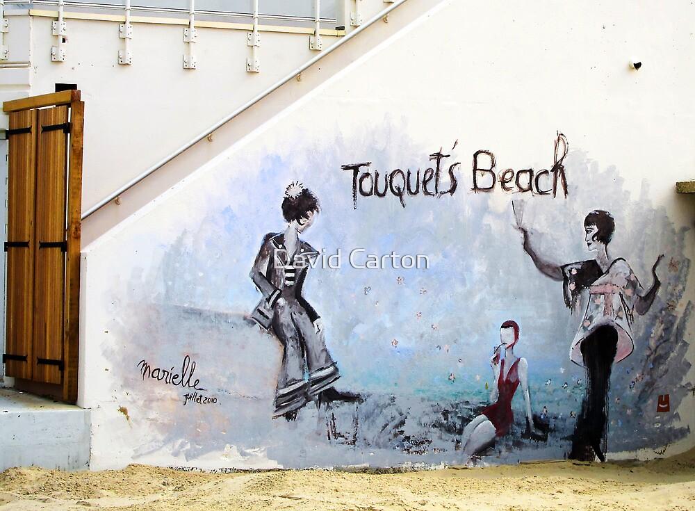 Touquet's beach. Mural, Le Touquet  by David Carton