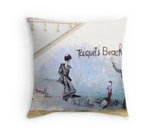 Touquet's beach. Mural, Le Touquet  Throw Pillow