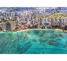 Waikiki by Sky Photographic Print