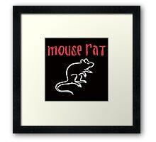 Mouse Rat- Parks and Rec Framed Print