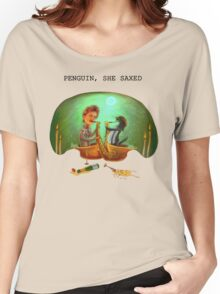 PENGUIN, SHE SAXED Women's Relaxed Fit T-Shirt