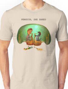 PENGUIN, SHE SAXED Unisex T-Shirt