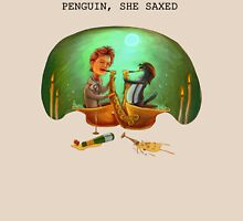 PENGUIN, SHE SAXED Unisex T-Shirt