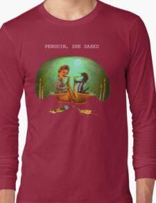 PENGUIN, SHE SAXED - dark Long Sleeve T-Shirt