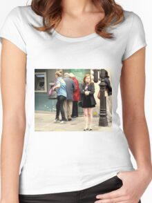 """Merde, My Legs Are Freezing!"" Women's Fitted Scoop T-Shirt"