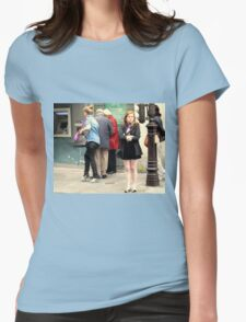 """""""Merde, My Legs Are Freezing!"""" Womens Fitted T-Shirt"""