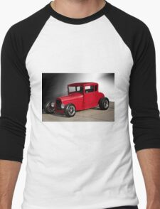 1928 Ford 'Little Red' Coupe IIIa Men's Baseball ¾ T-Shirt