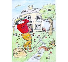 Crazy Golfer Photographic Print