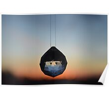 Crystal and Ombre Sunset Poster