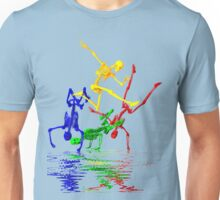 Skeletons break-dancing Unisex T-Shirt