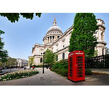 The red telephone box Photographic Print