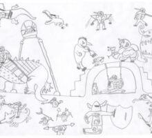 Monster fantasy war - mega beasts Sticker