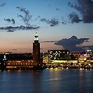 Sunset over Stadshuset by kostolany244