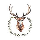 Stag and Laurel Wreath by SMalik