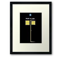Glow of the TARDIS Framed Print