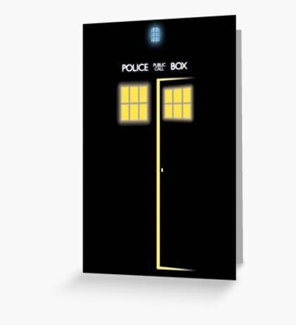 Glow of the TARDIS Greeting Card