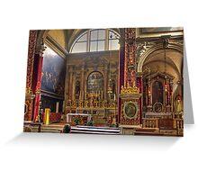 Inside the Basilica di San Marco Greeting Card