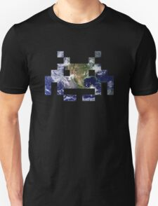 Space Invader Earth Unisex T-Shirt