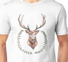 Stag and Laurel Wreath Unisex T-Shirt
