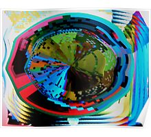 Psychedelic visual distortion Poster