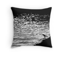 Wading For Godot Throw Pillow