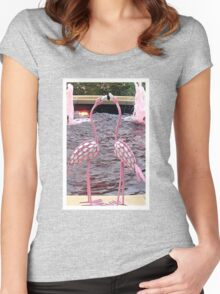 Pink Flamingos Women's Fitted Scoop T-Shirt