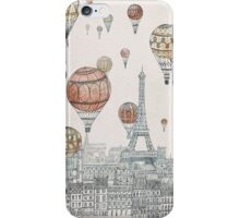 Voyages Over Paris iPhone Case/Skin