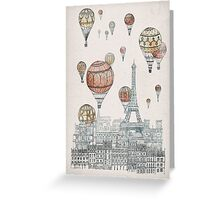 Voyages Over Paris Greeting Card