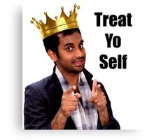 Treat Yo Self- Parks and Rec Canvas Print